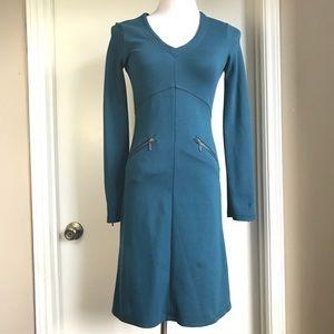 ATHLETA bodycon zip pocket dress